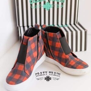 Buffalo plaid sneakers crazy Train